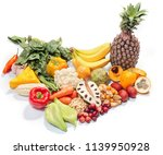 nutritional pyramid  fruits and ... | Shutterstock . vector #1139950928