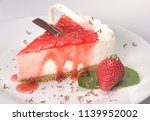 strawberry cheesecake dessert | Shutterstock . vector #1139952002