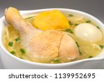 peruvian food  chicken soup.  | Shutterstock . vector #1139952695