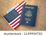 passport card of usa covered by ...   Shutterstock . vector #1139954732