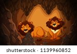 lion living in the cave... | Shutterstock .eps vector #1139960852