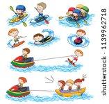 a set of water activities... | Shutterstock .eps vector #1139962718