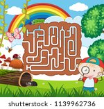 nature maze puzzle game... | Shutterstock .eps vector #1139962736