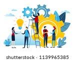 mini people create idea to... | Shutterstock .eps vector #1139965385
