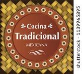 cocina tradicional mexicana ... | Shutterstock .eps vector #1139965895