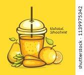 orange healthy smoothie vector...   Shutterstock .eps vector #1139975342