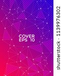 trendy cover page layout.... | Shutterstock .eps vector #1139976302
