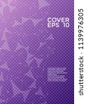 trendy cover page layout.... | Shutterstock .eps vector #1139976305