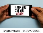word writing text thank you see ... | Shutterstock . vector #1139977058
