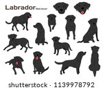 labrador illustration dog poses ... | Shutterstock .eps vector #1139978792