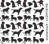 labrador pattern dog poses dog... | Shutterstock .eps vector #1139978798