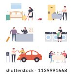 a variety of things a hotel... | Shutterstock .eps vector #1139991668