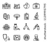 veterinary care icon set with... | Shutterstock .eps vector #1139993795