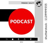 podcast   icon for web and... | Shutterstock .eps vector #1139999555