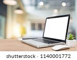 work place concept mockup blank ... | Shutterstock . vector #1140001772