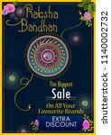 elegant rakhi for brother and... | Shutterstock .eps vector #1140002732