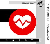 heart medical icon | Shutterstock .eps vector #1140008372
