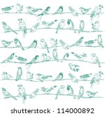 birds seamless background   for ... | Shutterstock .eps vector #114000892