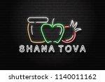 vector realistic isolated neon...   Shutterstock .eps vector #1140011162
