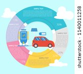 electric car infographic diagram | Shutterstock .eps vector #1140011258