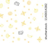 light orange vector seamless...   Shutterstock .eps vector #1140014282