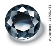 black diamond realistic... | Shutterstock .eps vector #114001456