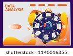 3d infographic business data...   Shutterstock .eps vector #1140016355