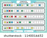complete simple repeating... | Shutterstock .eps vector #1140016652
