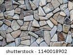 texture of natural cut stone | Shutterstock . vector #1140018902