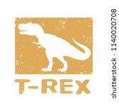 dinosaur t rex design. vector... | Shutterstock .eps vector #1140020708