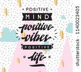 inspirational quote  motivation.... | Shutterstock .eps vector #1140023405