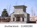 custom built outdoor fireplace... | Shutterstock . vector #11400280