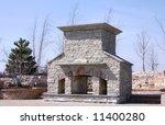 custom built outdoor fireplace... | Shutterstock . vector #11400280