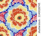 flower pattern. colorful... | Shutterstock . vector #1140028745