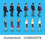 woman and businessman... | Shutterstock .eps vector #1140032078
