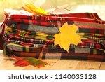 autumn season.autumn scarves... | Shutterstock . vector #1140033128