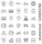 thin line vector icon set  ... | Shutterstock .eps vector #1140042788