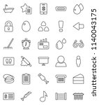thin line vector icon set  ... | Shutterstock .eps vector #1140043175