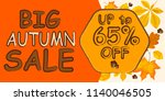 autumn sale background and... | Shutterstock .eps vector #1140046505