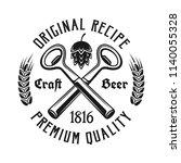 beer emblem  label  badge or... | Shutterstock .eps vector #1140055328