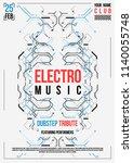 cyberpunk futuristic poster.... | Shutterstock .eps vector #1140055748