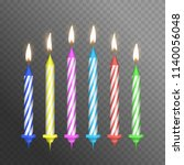 realistic detailed 3d birthday... | Shutterstock .eps vector #1140056048
