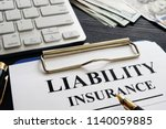 liability insurance agreement... | Shutterstock . vector #1140059885