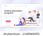 landing page template of online ... | Shutterstock .eps vector #1140060452