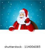 happy santa claus over white... | Shutterstock .eps vector #114006085