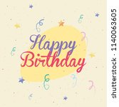 happy birthday card | Shutterstock .eps vector #1140063605
