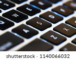 close up flat keyboard laptop... | Shutterstock . vector #1140066032