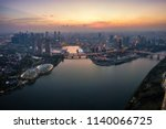 aerial view of the singapore... | Shutterstock . vector #1140066725