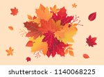 autumn sale template with fall... | Shutterstock .eps vector #1140068225