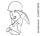 pickaxe tool design   Shutterstock .eps vector #1140073835